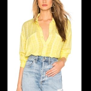 Free People | Loveland Solid Yellow Buttondown